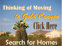 Search for homes in Gold Canyon Arizona